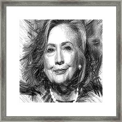 Hillary Rodham Clinton Framed Print by Rafael Salazar
