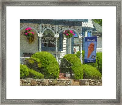 Hilliards Chocolates And Ice Cream Framed Print