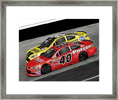 Hillman Racing Sprint Cup 2015 Precon Marine Framed Print by Myke  Irving