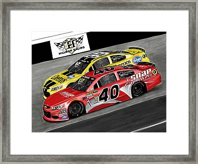 Hillman Racing Sprint Cup Series '15 Framed Print by Myke  Irving