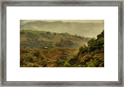 Hills Above Anderson Valley Framed Print