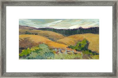 Hills Above Silicon Valley Framed Print by Barbara Moore