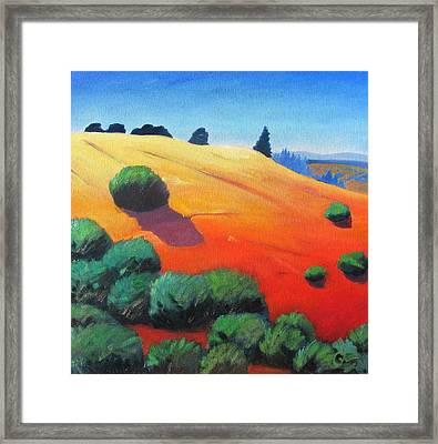 Framed Print featuring the painting Hills And Beyond by Gary Coleman