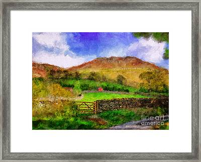 Hills And Dales Framed Print by Lois Bryan