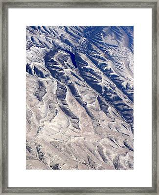 Hills And Valleys Aerial Framed Print by Carol Groenen