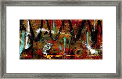 Hills And Valleys Framed Print by Angela L Walker