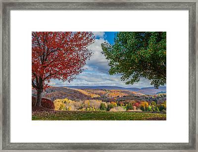Hills Of Autumn Framed Print by April Reppucci