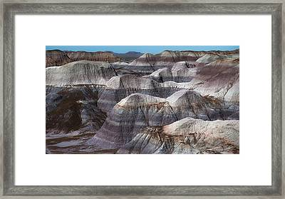 Hills Of Blue Mesa Framed Print