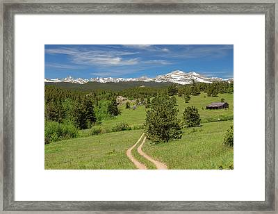 Hills Of Boulder County Colorado Framed Print by James BO Insogna