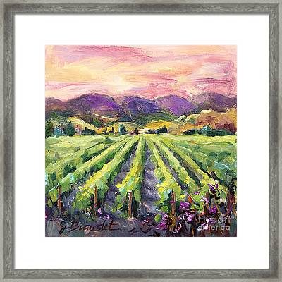 Hills Of Fire Framed Print by Jennifer Beaudet