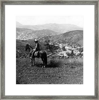 Hills Of Guanajuato - Mexico - C 1911 Framed Print by International  Images