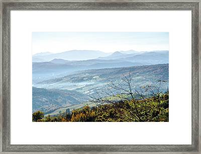 Hills Of Italy - Guardiagrele 2  Framed Print
