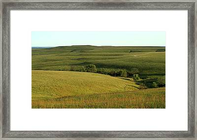 Framed Print featuring the photograph Hills Of Kansas by Thomas Bomstad