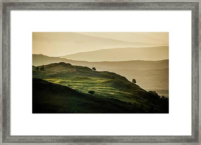 Hills Of Lake District In The Uk Framed Print