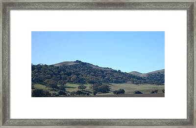 Hills Of Oak Framed Print by Jean Booth