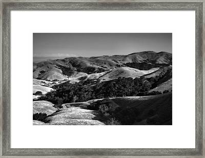 Hills Of San Luis Obispo Framed Print by Steven Ainsworth