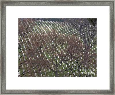 Hills Of The Fallen Framed Print by Tim Grams