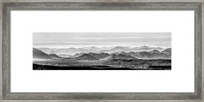 Hills Of The Tonto Framed Print