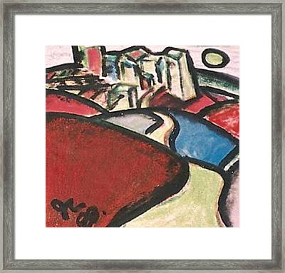 Hills To The City Framed Print by Jimmy King
