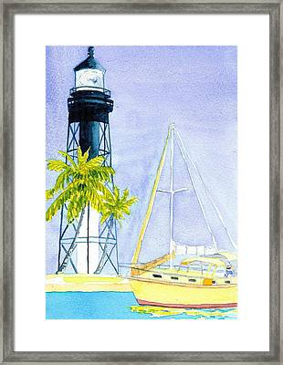 Hillsboro Inlet Framed Print by Anne Marie Brown