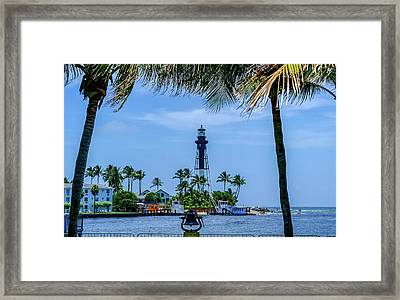 Framed Print featuring the photograph Hillsboro Inlet Lighthouse by Louis Ferreira
