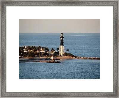 Hillsboro Lighthouse In Florida Framed Print