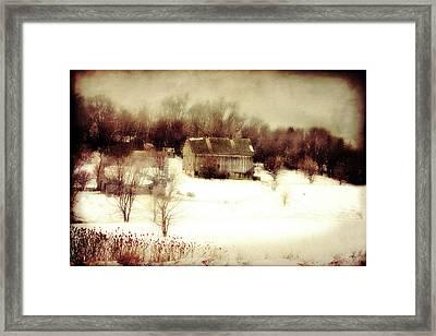 Hillside Barn Framed Print