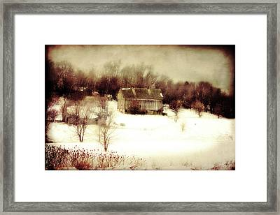 Hillside Barn Framed Print by Julie Hamilton