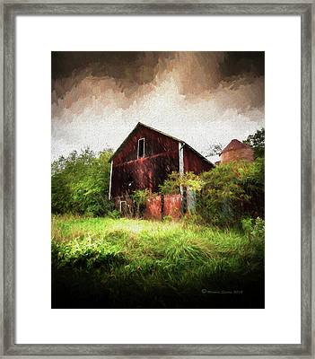 Hillside Barn Framed Print by Marvin Spates