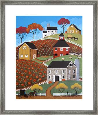 Hillside Barns Framed Print