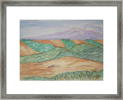 Hillside Farming Framed Print by Denny Phillips