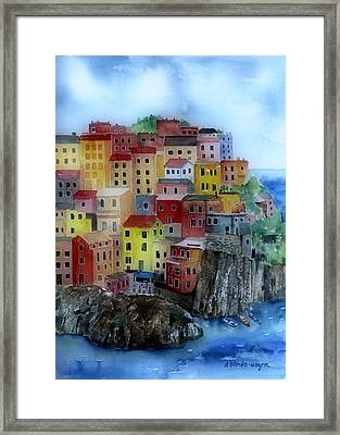 Hillside Homes Framed Print by Arline Wagner