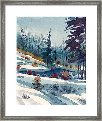 Hillside In Winter Framed Print by Donald Maier