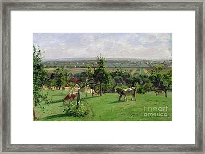 Hillside Of Vesinet Framed Print