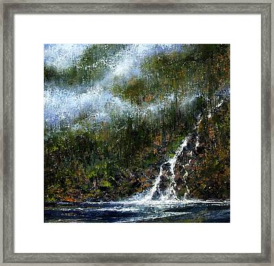 Hillside Run-off Framed Print