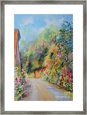 Framed Print featuring the painting Hillside Street Hythe Kent by Beatrice Cloake