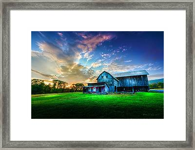 Hillside Sunset Framed Print