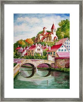 Hillside Village Framed Print by Charles Hetenyi