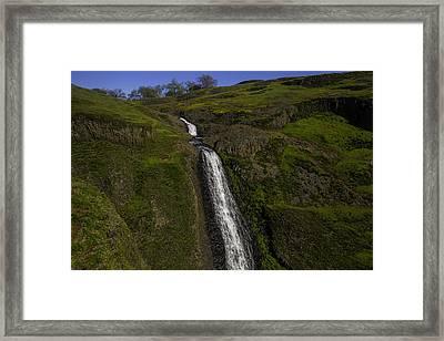 Hillside Waterfall Framed Print