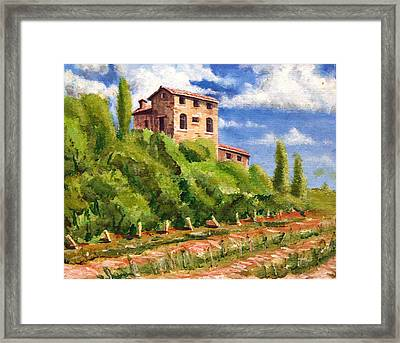 Hillside Framed Print by Wesley Pack