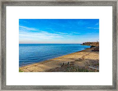 Hillsmere Beach On The Chesapeake Framed Print