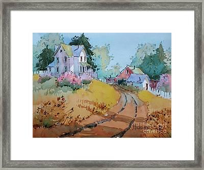Hilltop Homestead Framed Print