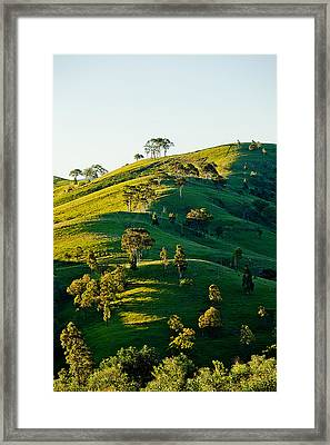 Hilltop Shadows Framed Print by Az Jackson