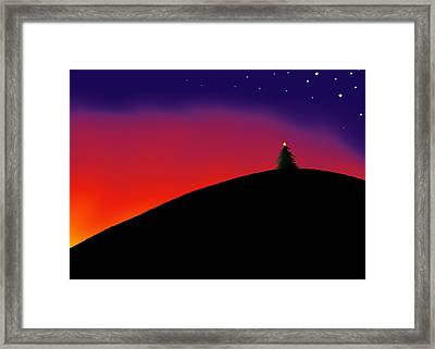 Hilltop Tree Framed Print