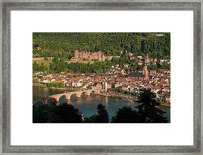 Hilltop View - Heidelberg Castle Framed Print by Greg Dale