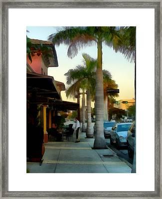 Hillview Ave Sidewalk Framed Print by Tawes Dewyngaert