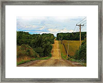 Hilly Country Road Framed Print by Anthony Djordjevic