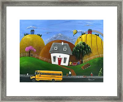 Hilly Homework Framed Print by Brianna Mulvale