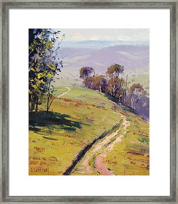 Hilly Landscape Lithgow Framed Print