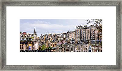 Hilly Skyline Of Edinburgh Framed Print